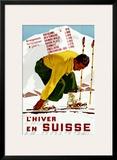 Hiver En Suisse Framed Giclee Print by Erich Hermes