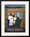 Orient Express Framed Giclee Print by Pierre Fix-Masseau