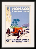Monaco Grand Prix F1 Race, c.1934 Framed Giclee Print by Geo Ham