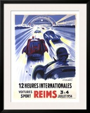 12 Heures International Reims, 1954 Framed Giclee Print by Geo Ham