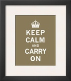 Keep Calm And Carry On VII Prints