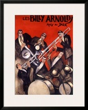 Billy Arnold Jazz Band Music Framed Giclee Print by Paul Colin