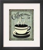 Retro Coffee I Print by N. Harbick