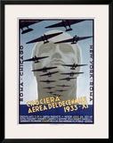 Croceria Aerea del Decennale Framed Giclee Print by Luigi Martinati