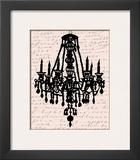 Chandelier Calligraphy II Prints by Sharyn Sowell