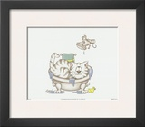 Bathroom Cats IV Prints by A. Langston