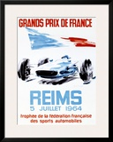 Grand Prix de France, Reims, 1964 Framed Giclee Print