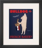 Bulldog French Bakery Poster by Ken Bailey