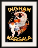 Ingham Marsala Framed Giclee Print by Marcello Dudovich