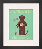 Lab Chocolate Ale Print by Ken Bailey