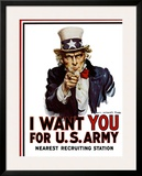 I Want You for the U.S. Army, c.1917 Poster by James Montgomery Flagg