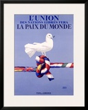 Labor Union Dove Framed Giclee Print by Paul Colin
