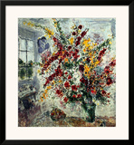 Window Bouquet Poster by Marc Chagall