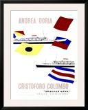 Andrea Doria Christoforo Colombo Framed Giclee Print by Enrico Ciuti