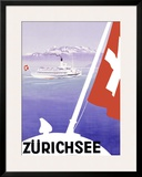 Lake Geneva, Zurich, Switzerland Framed Giclee Print