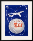Russian CCCP Airways Aviation Framed Giclee Print