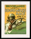 British 1000 Grand Prix Racing Framed Giclee Print