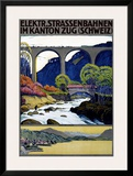 Elekktr Strassenbahnen im Kanton Zug Posters by Ernst Emil Schlatter