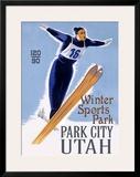 Park City Jumper Framed Giclee Print