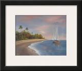Tropical Beach I Art by Vivien Rhyan