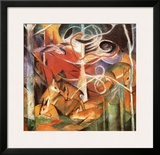 Deer in the Forest I Poster by Franz Marc