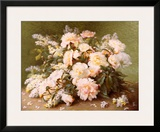Peonies and Lilacs Wall Art by Raoul Victor Maurice Maucherat de Longpre