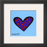Blue About You Prints by Romero Britto