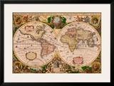 Flemish 1512-1594 Print by Gerardus Mercator