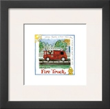 Fire Truck Prints by Lila Rose Kennedy