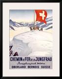 Chemin de Fer de la Jungfrau Framed Giclee Print by Emil Cardinaux