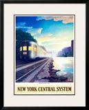 Twilight on the Hudson River Framed Giclee Print