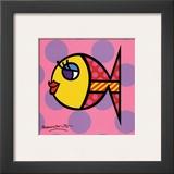 Dittie Fish Poster by Romero Britto