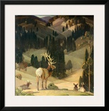 October in the Mountains Prints by W. Herbert Dunton