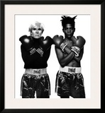 Andy Warhol and Jean-Michel Basquiat Poster by Michael Halsband