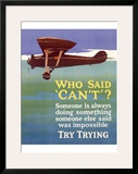 Try Trying Success Framed Giclee Print