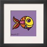 Swimmingly Purple Posters by Romero Britto