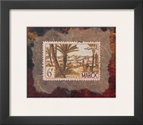 Maroc Stamp Poster by Ann Walker