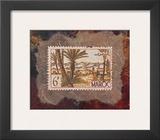 Maroc Stamp Poster by Ann Walker