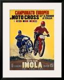 Moto Club Imola Motocross Framed Giclee Print by  Pozzi