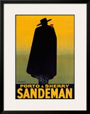Porto and Sherry Sandeman, 1931 Poster by Georges Massiot