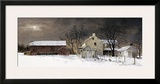 Winter Moon Framed Giclee Print by Ray Hendershot