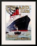 Cunard Line, Aquitania Framed Giclee Print by Odin Rosenvinge