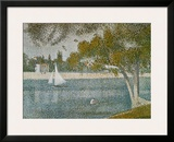 Banks of Seine Print by Georges Seurat