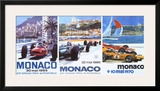 65, 66, 70 Monaco Grand Prix 3 in 1 Poster Framed Giclee Print