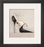 The Purrrfect Fit I Print by Marilyn Robertson