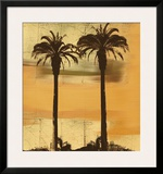 Shoreline Sunset Framed Giclee Print by Karl Rattner