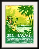 See Hawaii, Matson Navigation Framed Giclee Print