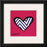 Zig Zag Love Print by Romero Britto