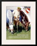 Thun, Nationaler Concours Hippique Framed Giclee Print by Iwan E. Hugentobler