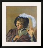Singin Boy with a Flute Poster by Frans Hals